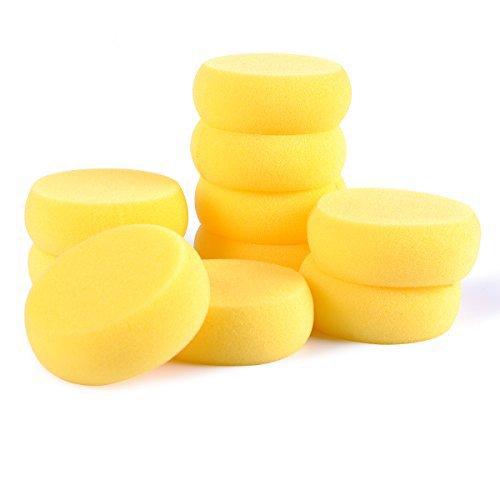 eZAKKA 12-Pack Sponge Paint, Synthetic Sponges, Acrylic Art Paint Sponge for Painting, Crafts, Pottery, Cleaning and More by eZAKKA