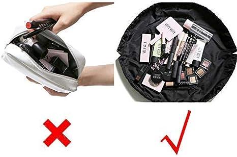 QICI 2 Pcs Sac Cosm/étique de Stockage Paresseux,Pochette de Maquillage Magique Imperm/éable /à Cordon de Serrage Sac Portatif de Toilette de Voyage de Grande Capacit/é 1