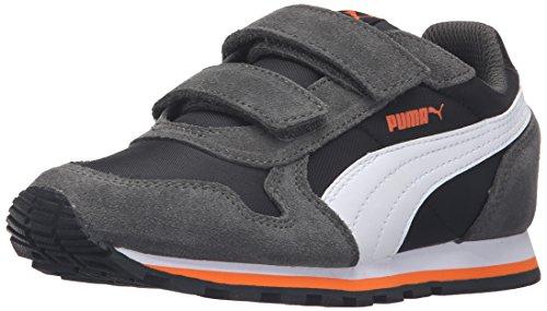 PUMA St Runner Nl V Ps Sneaker (Little Kid/Big Kid), Puma Black/Puma White, 11 M US Little Kid