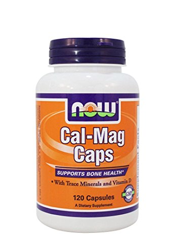 Now Foods Cal-mag Caps Supplement Supports Bone Health Calcium Metabolism with Trace Minerals and Vitamin D 120 Caps (Magnesium Citrate Usp)