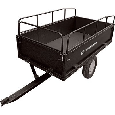 Strongway Steel Dump Cart - 1,200-Lb. Capacity, 17 Cu. Ft.