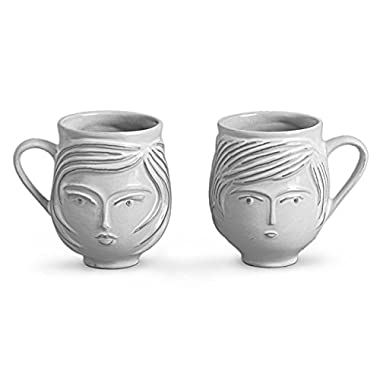 Jonathan Adler Utopia Boy & Girl Mug, Ivory