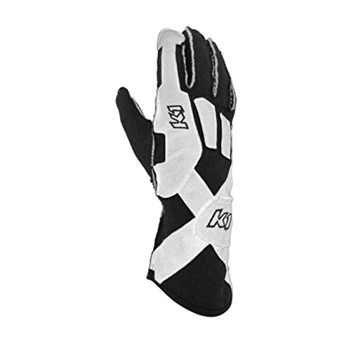 K1 Race Gear Pro-XS SFI Auto Racing Gloves (Black, Small) ()