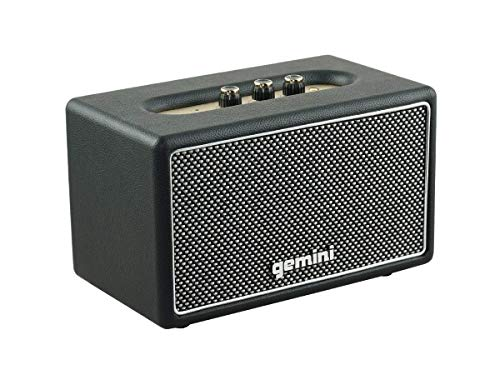 Gemini GTR-200 Retro Bluetooth Portable Speaker, 45W Vintage Stereo Sound, 5.0 Wireless Audio Speaker with Analog Knobs…