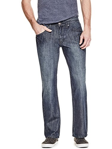 GUESS Factory Men's Rowland Relaxed Straight (Guess Indigo Jeans)