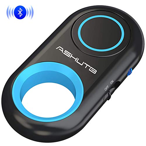 [Upgraded] Bluetooth Remote Shutter for iPhone & Android Camera Control Selfie Button for iPad iPod Tablet, HD Selfie Clicker for Photos & Videos (Blue)