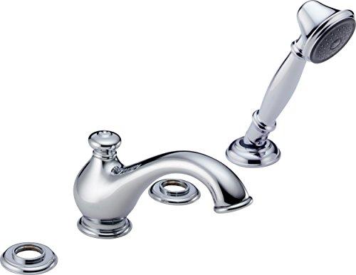 Delta Leland Roman Tub - Delta T4778-LHP Leland Roman Bathtub Faucet with Hand Shower Trim without Handles, Chrome