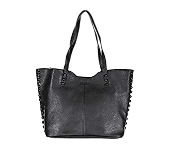 Rampage Womens Tote With Studs Black