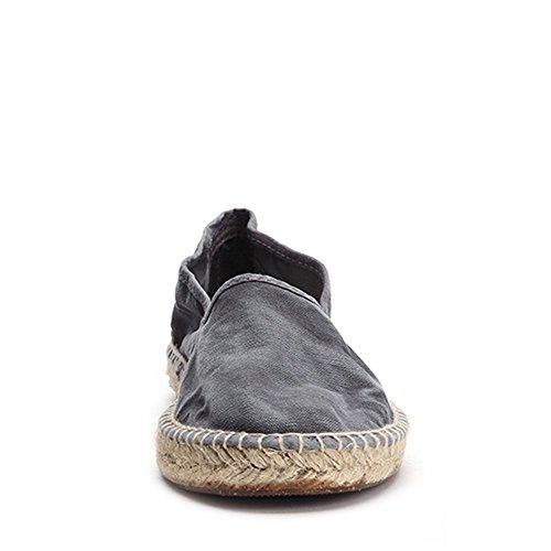 Sneakers Espadrille In Canvas Da Donna Del Mondo Naturale 625e-w Gris Sz 35