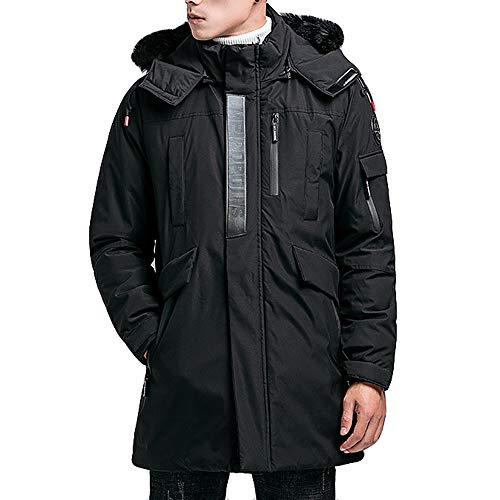 - Mens Winter Medium Length Zipper Hoodie Thickened Wind Proof Cotton Outwear Coat by Teresamoon
