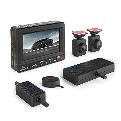 Esky Dual Dash Cam Front and Rear with Monitor, 1920P+1080P HD DVR Dashboard Camera with GPS, Night Vision, G-Sensor Loop Recording Car Recorde