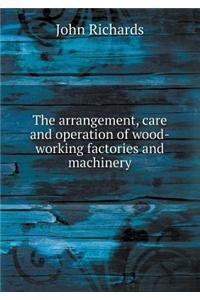 The arrangement, care and operation of wood-working factories and machinery