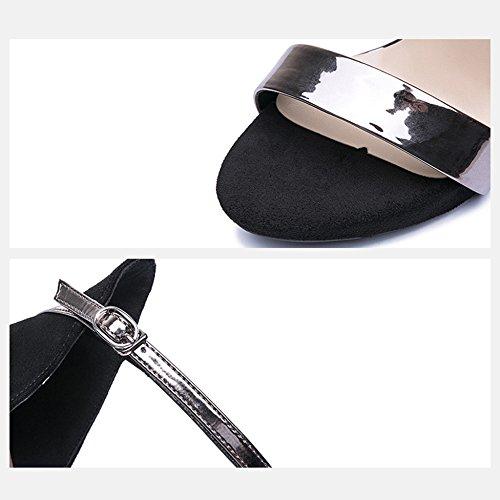 Para De Con Moda Yra Señora Plataforma Sandalias De Negro Altos Tacones Fiesta Impermeable Zapatos Mujer Correa Verano Palabra I6w4Zq8