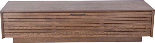 天然木ウォールナット無垢材のテレビ台 幅180cm ローボード 木製/ブラウン(BR) B072N4TYPV ブラウン(BR)