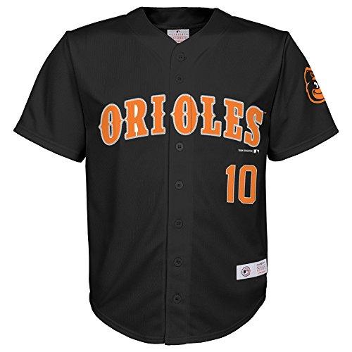 MLB Baltimore Orioles Boys Player Jones Fashion Jersey , Black, 16/18