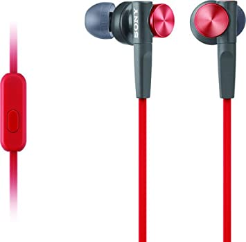 Sony MDRXB50AP/R Extra Bass Earbud Headphones (Red) Sony Electronics Inc. Accessory Home Audio & Theater