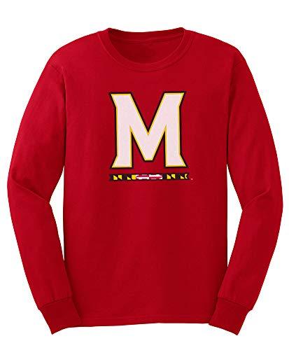 (Elite Fan Shop NCAA Men's Maryland Terrapins Long Sleeve Shirt Team Icon Maryland Terrapins True Red)