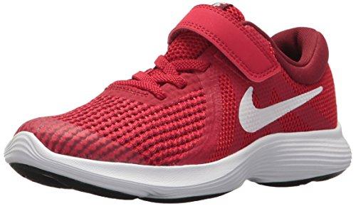 - Nike Boys' Revolution 4 (TDV) Running Shoe, Gym White-Team red-Black, 8C Regular US Toddler