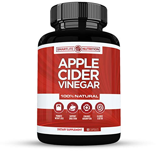 100% Natural Apple Cider Vinegar Pills - Powerful 500 mg Pure ACV Capsules with Cayenne Pepper for Healthy Diet & Weight Loss, Body Detox & Cleanse for Women & Men - Vegan, Non-GMO, Gluten Free