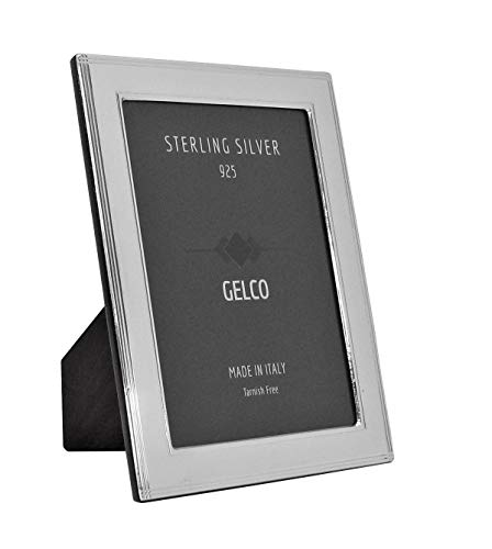 - Italian 925 Sterling Silver Handmade Glossy Elegant Picture Frame (8X10)