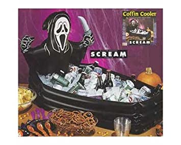 scream coffin cooler inflatable ice cold beverages beer drinks halloween party decor