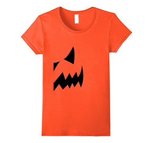 Duo Halloween Costumes Females (Womens Pumpkin Couples Costume Halloween Right Side T-shirt Small Orange)