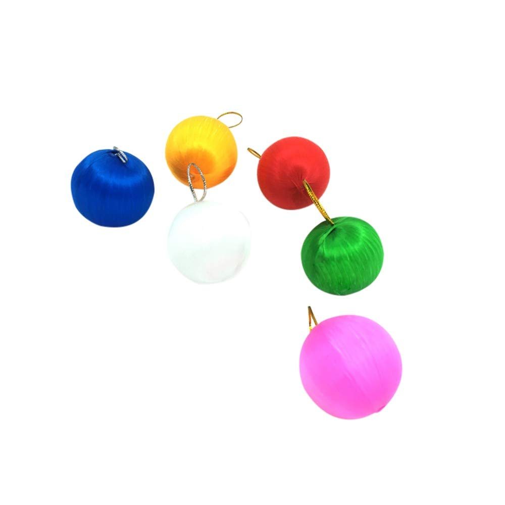 6Pcs Christmas Ball Baubles, Shatterproof Hang Balls Pendant Xmas Tree Decoration Set Hanging Ornament Decor (B)
