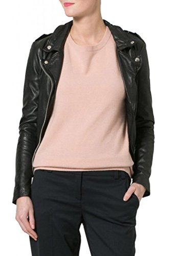 Leather Para Chaqueta Junction Mujer Negro YT11P8Xqn