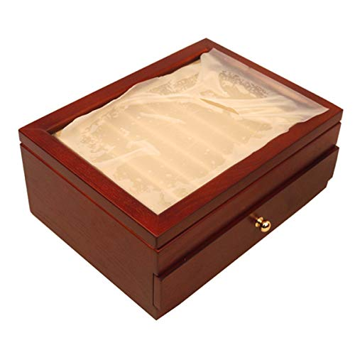 TANCHEN 20 Pieces Fountain Pens Holder Wooden Pen Display Case With Antique Wind Red Color Container