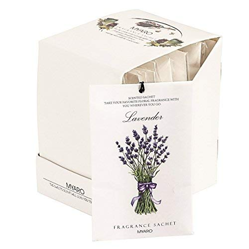 MYARO 12 Packs Lavender Scented Sachets for Drawer and Closet ()