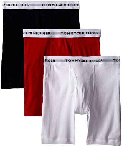 - Tommy Hilfiger Men's 3-Pack Cotton Boxer Brief,Mahogany,X-Large(40-42)