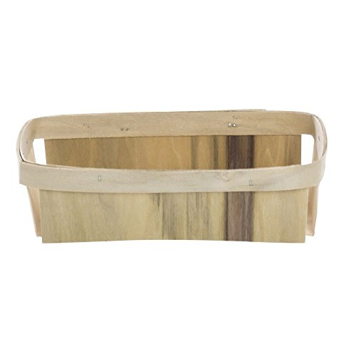Split Basket 1 qt Rectangular Natural Wood - 4 1/2 L x 8 1/4 W x 2 1/4 H by TEXAS BASKET COMPANY