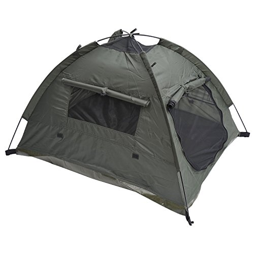 MDOG2 Outdoor Polyester Fabric Pet Camping Tent with Fiberglass Rod, 35 by 28-Inch