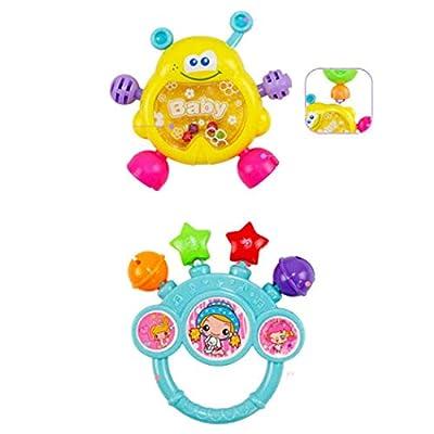 GoodKE 7pcs Cute Shape Soft Make Sound Rattle Set Baby Handheld Early Educational Toy Dresses: Clothing