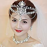 FLOW ZIG Women Crystal/Alloy Forehead Jewelry With Crystal Wedding/Party Headpiece