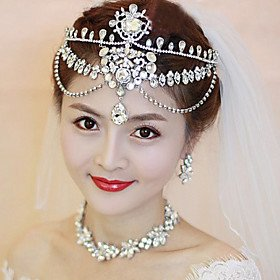 FLOW ZIG Women Crystal/Alloy Forehead Jewelry With Crystal Wedding/Party Headpiece by FLOW ZIG