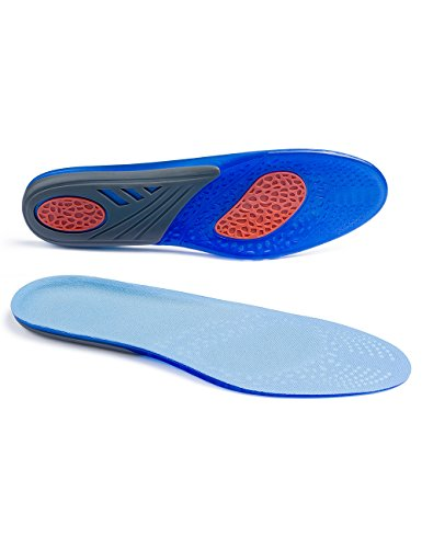 (Silicone Sports Insoles Shoe Insert - Heel Protection Shoe Insert for Plantar Fasciitis Flat Feet by ToeGlow)