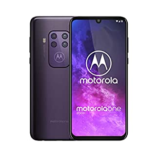 "Motorola One Zoom | Unlocked | GSM only | 4/128GB | 48MP | 2019 | Purple, Cosmic Purple, 6.4"" Display"