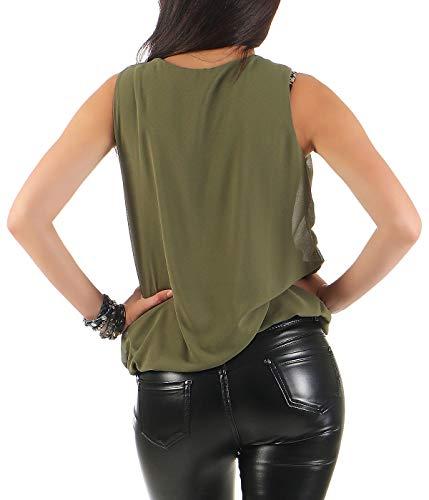 Blouse Malito Débardeur Unique Olive Léger Femme Élégant Taille 6879 qqZvnOxw