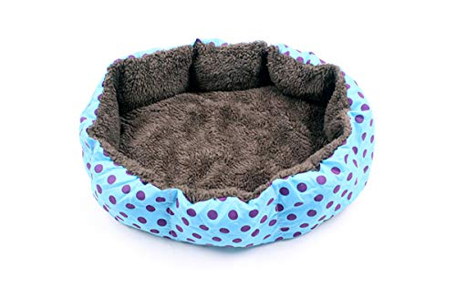(ALLNEO Pet Self-Warming Corduroy Pet Bed Several Assorted Colors Round Indoor Pet Bed Cuddler Premier Hideout Plush Bed for Dogs & Cats)