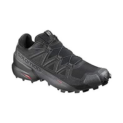 SALOMON Women's Speedcross 5 Trail Running Shoes, Black/Black/Phantom, 5