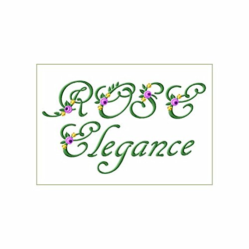 ABC Machine Embroidery Designs Set - Rose Elegance Font Machine Embroidery 62 Designs - Uppercase, Lowercase & Numerals - 4