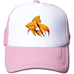 Womens Cotton Cap Adjustable Hat Goldfish