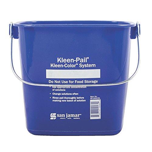 San Jamar KP196KCBL Kleen Pail, Blue, 6QT - Kleen Pail