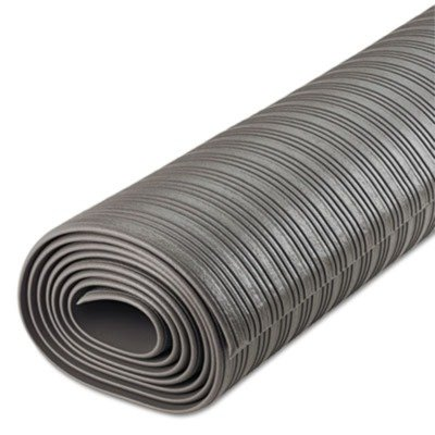 Crown FL3610GY Ribbed Anti-Fatigue Mat, Vinyl, 36 x 120, Gray ()