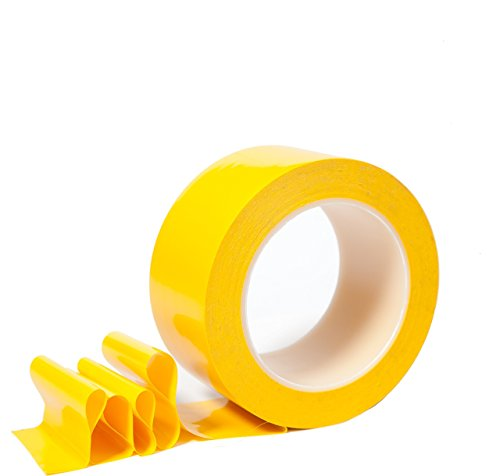 2 inch Floor Tape for Marking Factories, Warehouses, Workshops, Public Areas with Aggressive Adhesive & Flexible Backing, Yellow 2'' Width 36 Yards Length by TapeSam