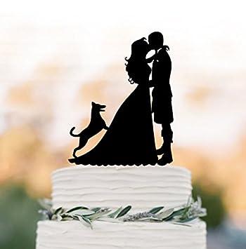 Amazon.com: Scottish Wedding Bride and groom with kilt silhouette ...