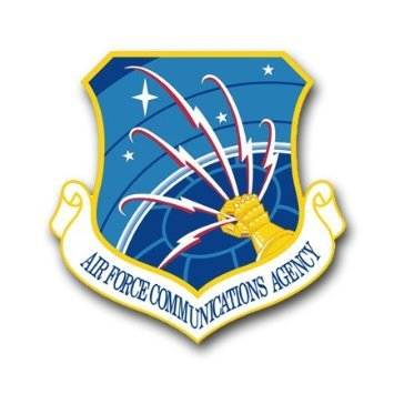 US Air Force Communications Agency Decal Sticker 3.8