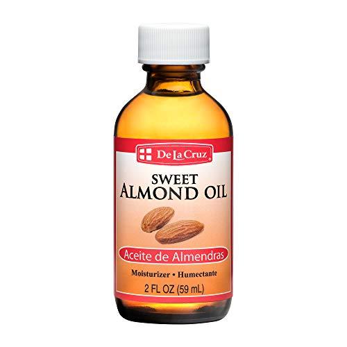 De La Cruz Sweet Almond Oil, No Preservatives or Artificial Colors, Expeller-Pressed, Non-GMO 2 FL. OZ.