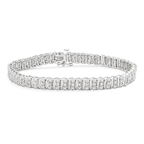 (1/2 CTTW White Diamonds Tennis Bracelet in Sterling Silver)